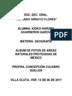 AREAS NATURALES PROTEGIDAS DE MEXICO.