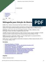 Bibliografia Para Seleção de Mestrado _ PPGHIS _ PPGHIS