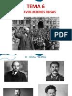 Tema 6 - Las Revoluciones Rusas