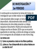 TEMAS DE INVESTIGACIÓN 7°- 1er PERIODO 2019