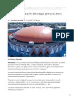 31-01-2019 Entregan remodelación del antiguo gimnasio, ahora 'Arena Sonora' - Uniradio