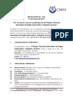 007- Res No. 1731 II Parada Nacional Interclubes Rugby Subacuático Ascenso