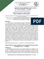 Efeito Do Uso e Ocupação Do Solo Na Qualidade Da Água Na Microbacia