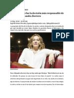 """""""No Ser Mamá Fue La Decisión Más Responsable de Mi Vida"""" Alejandra Borrero"""