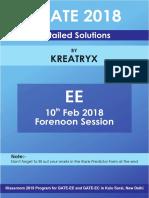 Kreatryx GATE EE 2018 Solutions