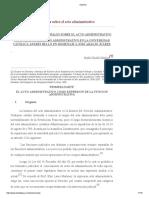 Consideraciones Generales Sobre El Acto Administrativo