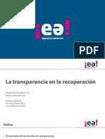 La Transparencia en La Recuperacion-Espacios Abiertos