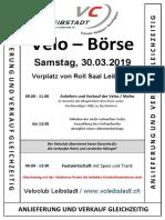 Flyer Velobörse Leibstadt 2019
