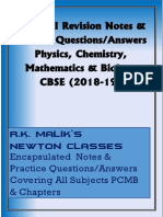 Class 12 Revision Notes & Practice Questions (All Subjects) - CBSE
