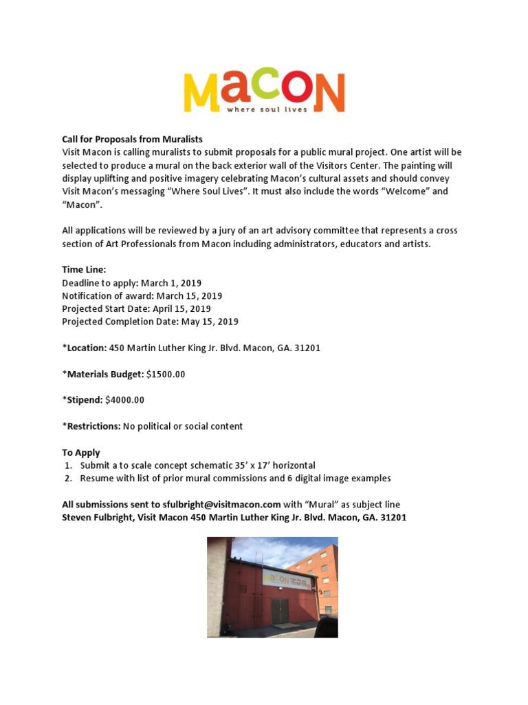Visit Macon - Mural Proposal Guidelines