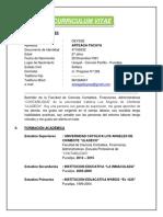 Curriculum Vitae - Deysse Arteaga