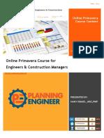 Primavera Course Description and Course Content 4