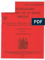 225589533 Markings to Be Found on Ammunition 1918
