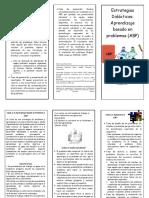 Triptico Estrategias de Enseñanza ABP ABPro