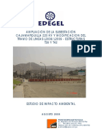 Ampliación de La Subestación Cajamarquilla 220 Kv y Modificacion