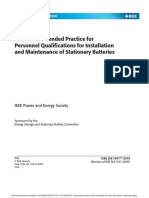 IEEE Std 1657™-2018 Recommended Practice for Personnel Qualifications for Installation and Maintenance of Stationary Batteries
