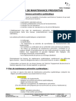 Les Plans de Maintenance Preventive