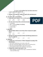 Key WRITTEN TEST 4 - Đại Lợi 8.docx