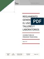 02 REG ESTU 008 15 Reglamento General Para El Uso de Talleres y Laboratorios