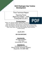GE Research R108 TBC Stuff Advanced IGCC_Hydrogen Gas Turbine Development
