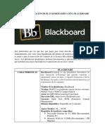 Grilla de Evaluación de Plataforma Educativa Blackboard