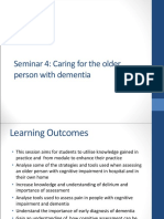 Caring for the Older Person With Dementia