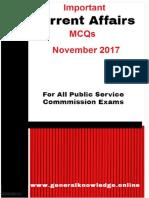 Important Current Affairs MCQs November 2017.pdf