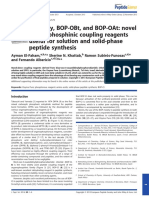 El-Faham, Albericio, F. (2013). BOP-OXy, BOP-OBt, And BOP-OAt Novel Organophosphinic Coupling Reagents Useful for Solution and Solid-phase Peptide Synthesis. Journal of Peptide Science,