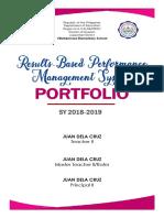 Rpms Portfolio Cover
