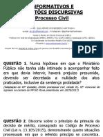 Informativos e Questões Discursivas - Processo Civil