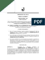 Resolución 038 de Abril 2011 Admon Empresas Univalle