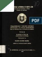 Ibarra-Posmodernidad y Discurso Historico-Analisis Historiografico Conquista de America-Tesis