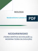 Neodarwinismo e Provas Evolucao