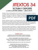 Convocatoria de artículos Revista Arquitextos N° 34 y 35