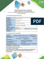 Guía de Actividades y Rúbrica de Evaluación - Actividad 1- Reconocimiento