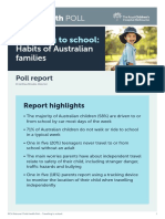 20190207 Travelling to School Habits of Australian Families 1