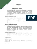 Lingüística I - Acreditación y contenidos