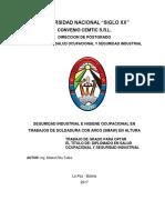 RIESGOS DE LA SOLDADURA EN ALTURA