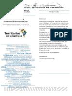 Folksonomía Territorios en Desarrollo