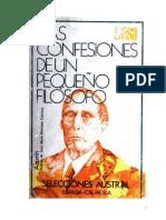 Azorin - Las Confesiones De Un Pequeño Filosofo