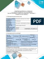 Guía de Actividades y Rúbrica de Evaluación - Actividad 1 - Estudio de Caso Unidad 1