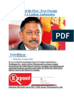 Inside Story of the First - Ever Foreign Indictment of A Lankan Ambassador.docx