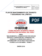 Plan de Mantenimiento de Transito y Seguridad Vial