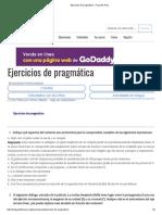 Ejercicios de Pragmática - Proyecto Aula