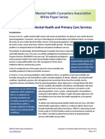 Integration of Mental Health and Primary Care Services
