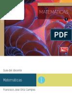 ++1_Guia para el docente Matematicas 1_ORTIZ
