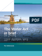 The Dutch Water Act in Brief