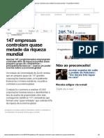 Luis Soares - 147 empresas controlam quase metade da riqueza mundial