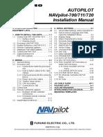 Furuno NAVPILOT 720 Autopilot Installation Manual