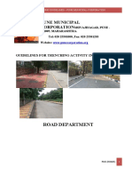 Road Trencing Guidlines for Pune City